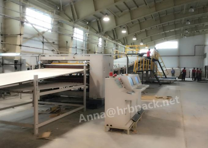 HRB PACK Automatic 3 Ply Corrugated Cardboard Making Machine Steam Heating Type