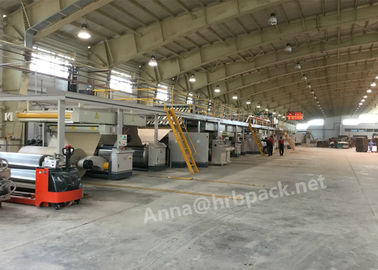 China HRB PACK Automatic 3 Ply Corrugated Cardboard Making Machine Steam Heating Type supplier