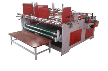China Semi - Auto Pressure Model Gluer Machine For Corrugated Cardboard factory